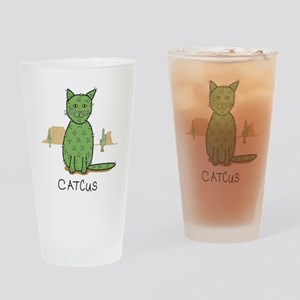 "Funny ""Catcus"" Cactus Drinking Glass"