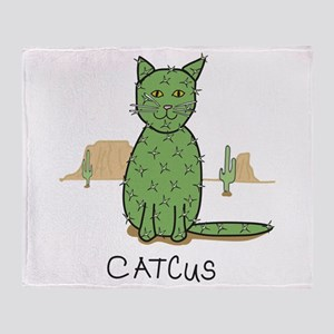 "Funny ""Catcus"" Cactus Throw Blanket"