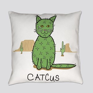 "Funny ""Catcus"" Cactus Everyday Pillow"