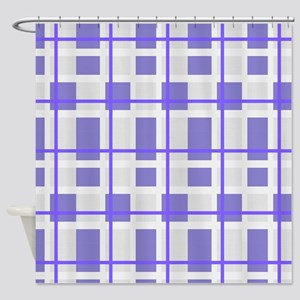 Purple and Gray Plaid Shower Curtain
