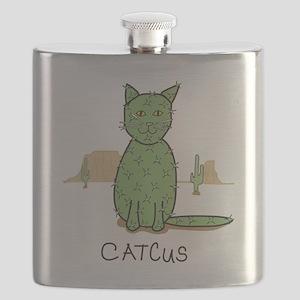 """Funny """"Catcus"""" Cactus Flask"""