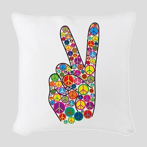 Peace Woven Throw Pillow