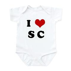 I Love S C Infant Bodysuit