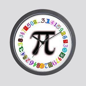 Colorful and Fun Circle of Pi Wall Clock
