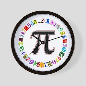 Colorful and Fun Circle of Pi Wall Clock