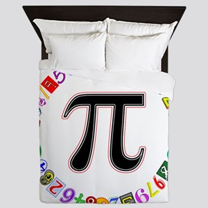 Colorful and Fun Circle of Pi Queen Duvet