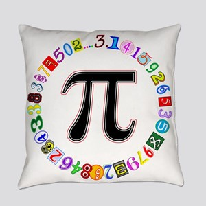 Colorful and Fun Circle of Pi Everyday Pillow