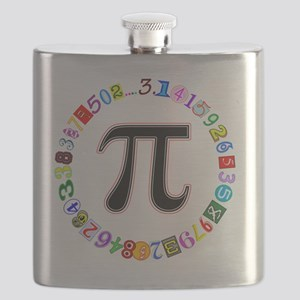 Colorful and Fun Circle of Pi Flask