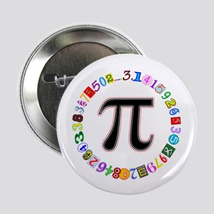 "Colorful and Fun Circle of Pi 2.25"" Button"