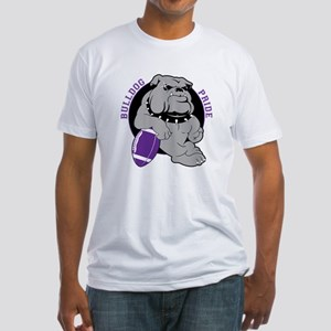 Bulldog Purple Black Fitted T-Shirt