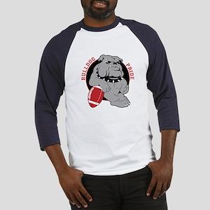 Bulldog Maroon Black Baseball Jersey