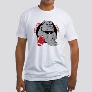 Bulldog Maroon Black Fitted T-Shirt