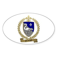 GUILBEAUX Family Crest Oval Decal