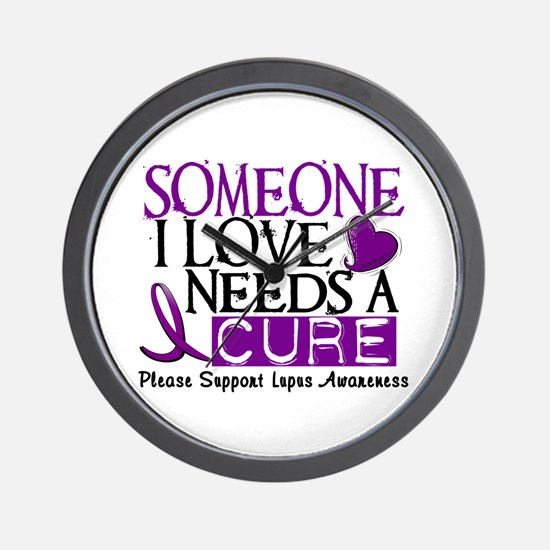 Needs A Cure LUPUS Wall Clock