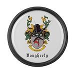 Dougherty Coat of Arms Large Wall Clock
