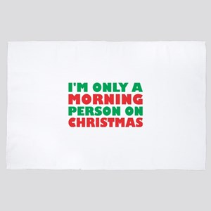 Im Only Morning Person On Christmas De 4' x 6' Rug