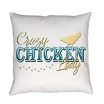 Chicken Lady Everyday Pillow