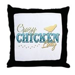 Chicken Lady Throw Pillow