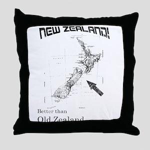 NZ, Better than Old Zealand Throw Pillow