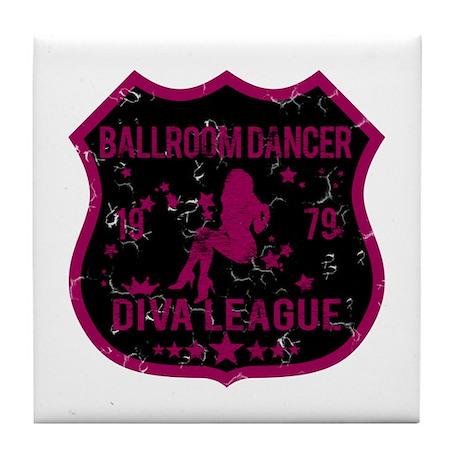 Ballroom Dancer Diva League Tile Coaster