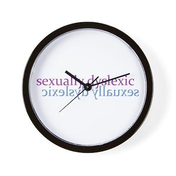 Sexually Dyslexic Wall Clock