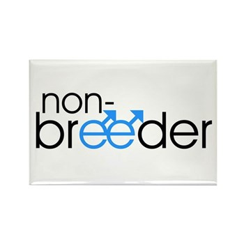 Non-Breeder - Male Rectangle Magnet (100 pack)