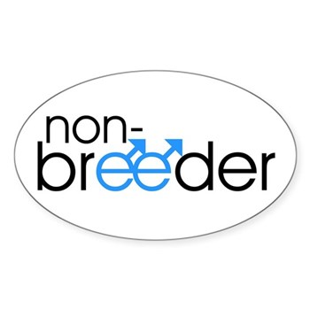 Non-Breeder - Male Oval Sticker (10 pk)