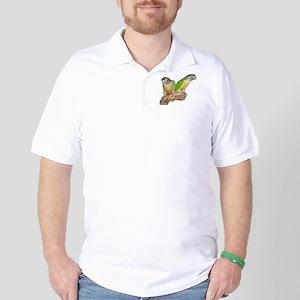 Mutation Green Cheek Conure Golf Shirt
