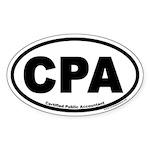 CPA Certified Public Accountant Euro Oval Sticker
