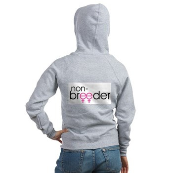 Non-Breeder - Female Women's Zip Hoodie