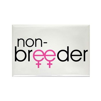 Non-Breeder - Female Rectangle Magnet (100 pack)