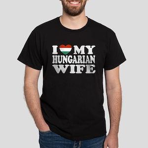 I Love My Hungarian Wife Dark T-Shirt