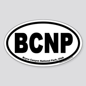Bryce Canyon National Park BCNP Euro Oval Sticker