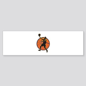 Simple Basketball Player and Ball l Bumper Sticker