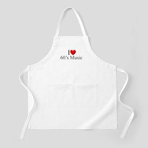 """I Love (Heart) 60's Music"" BBQ Apron"