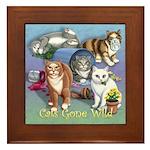 Cats Gone Wild Framed Tile
