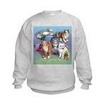 Cats Gone Wild Kids Sweatshirt