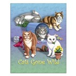 Cats Gone Wild Small 16x20 Poster
