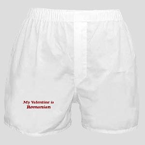 Romanian Valentine Boxer Shorts
