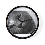 Grey tilt Wall Clock