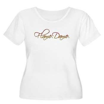 Flame Dame Women's Plus Size Scoop Neck T-Shirt