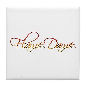 Flame Dame Tile Coaster