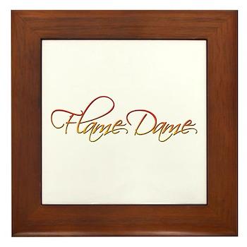Flame Dame Framed Tile