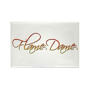 Flame Dame Rectangle Magnet