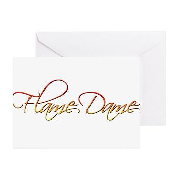 Flame Dame Greeting Card