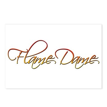 Flame Dame Postcards (Package of 8)