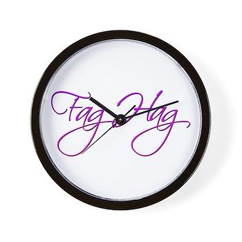 Fag Hag Wall Clock
