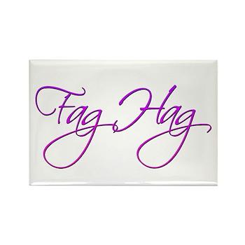 Fag Hag Rectangle Magnet (10 pack)