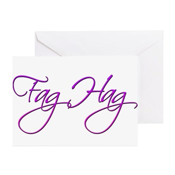 Fag Hag Greeting Cards (10 pack)