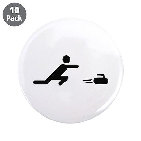 "black curling logo curl symb 3.5"" Button (10"